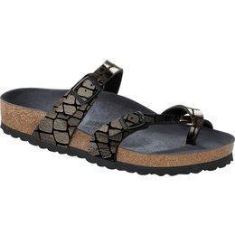 Birkenstock Mayari Gator Gleam Black for normal feet