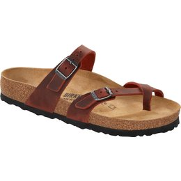 Birkenstock Mayari Earth Red oiled leather for normal feet