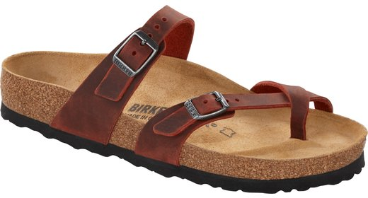 Birkenstock Birkenstock Mayari Earth Red oiled leather for normal feet