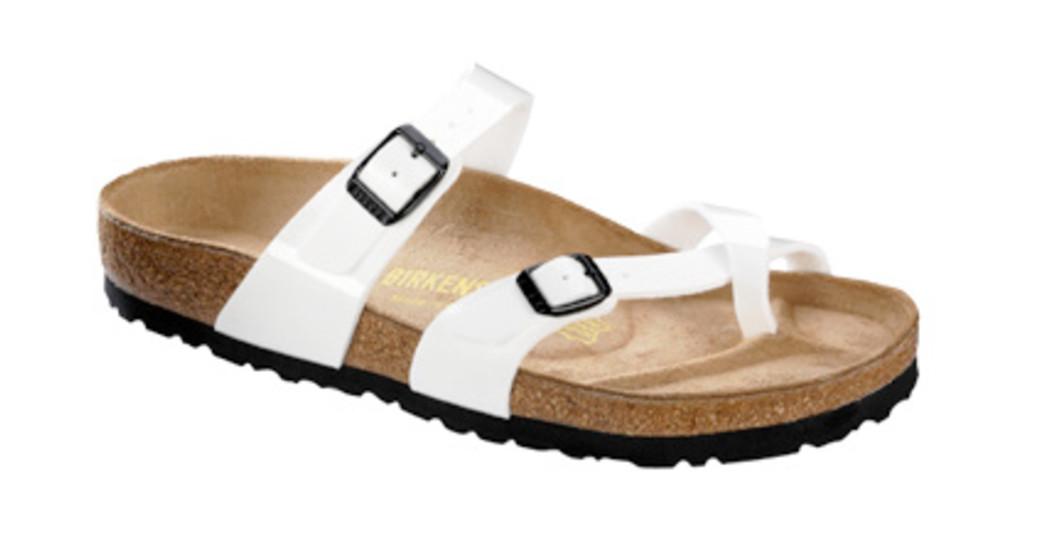 Birkenstock Mayari white patent for normal feet