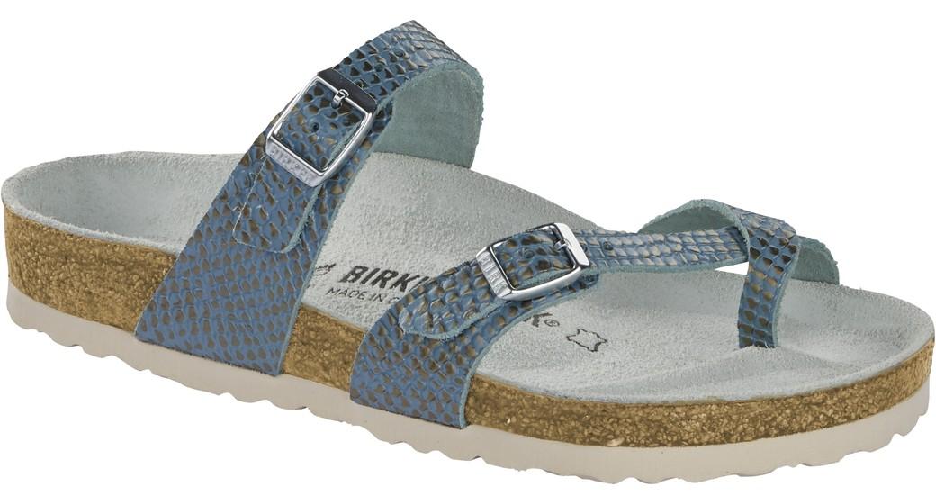 Birkenstock Mayari mermaid aqua soft leather for normal feet