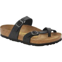 Birkenstock Mayari zwart geolied leer  voor normale voet
