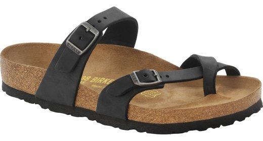 Birkenstock Birkenstock Mayari zwart geolied leer voor normale voet