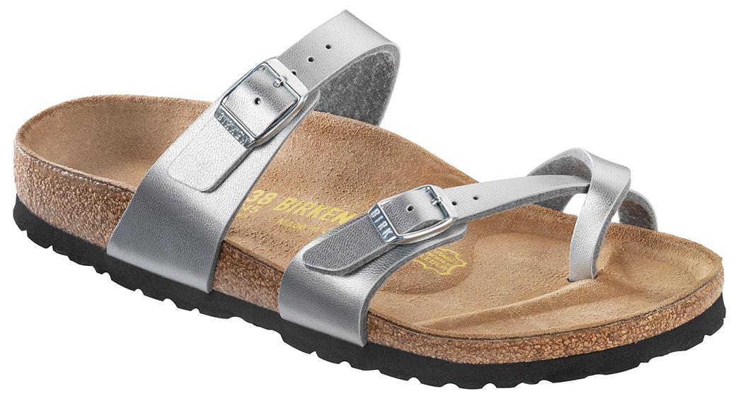 Birkenstock Mayari zilver voor normale voet