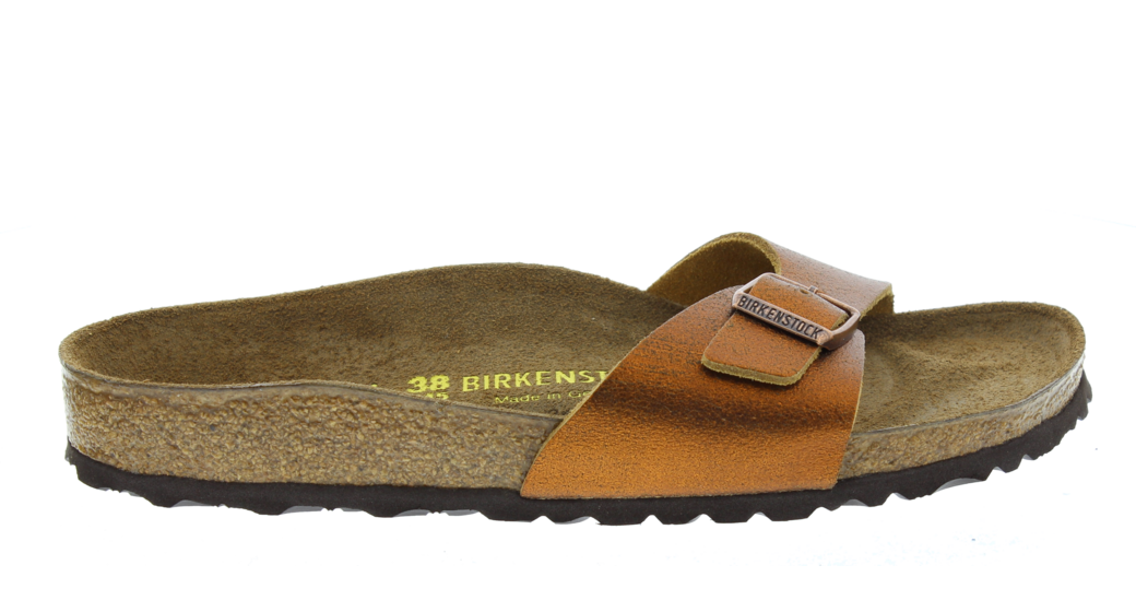 Birkenstock Madrid Washed Metallic Antique Copper Leather for normal feet