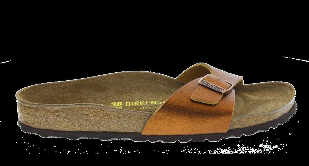 Birkenstock Madrid Washed Metallic Antique Copper Leather voor normale voet