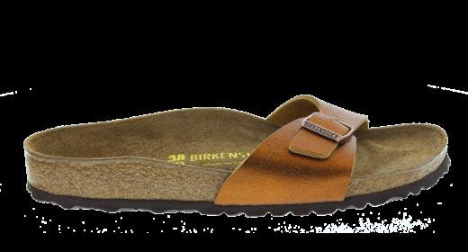 Birkenstock Birkenstock Madrid Washed Metallic Antique Copper Leather for normal feet