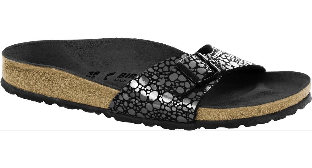 Birkenstock Madrid metallic stones zwart voor normale voet