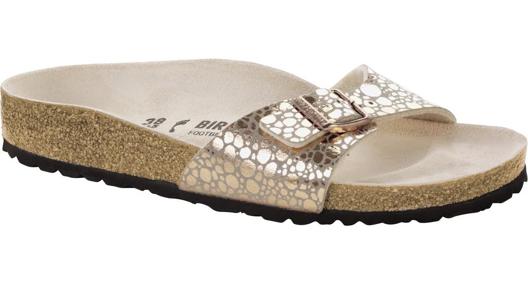 Birkenstock Madrid metallic stones copper voor normale voet