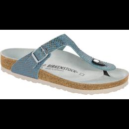 Birkenstock Gizeh mermaid aqua soft leather for normal feet