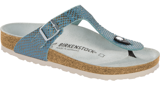 Birkenstock Birkenstock Gizeh mermaid aqua soft leather for normal feet