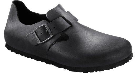 Birkenstock Birkenstock London zwart geolied leer voor normale voet