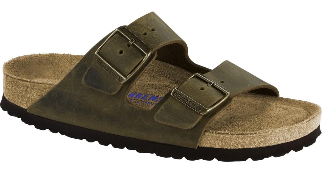 Birkenstock Arizona Jade olied leather for normal feet