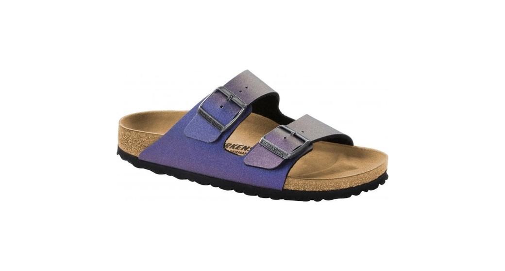 Birkenstock Arizona Icy Metallic Violet for normal feet