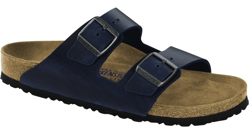 Birkenstock Arizona blue olied leather soft footbed for normal feet