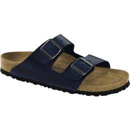 Birkenstock Arizona Blauw geolied leer, zacht voetbed ,voor brede voet