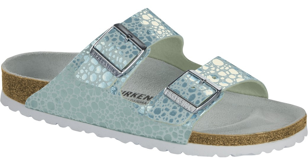 Birkenstock Arizona Metallic Stones Aqua for normal feet