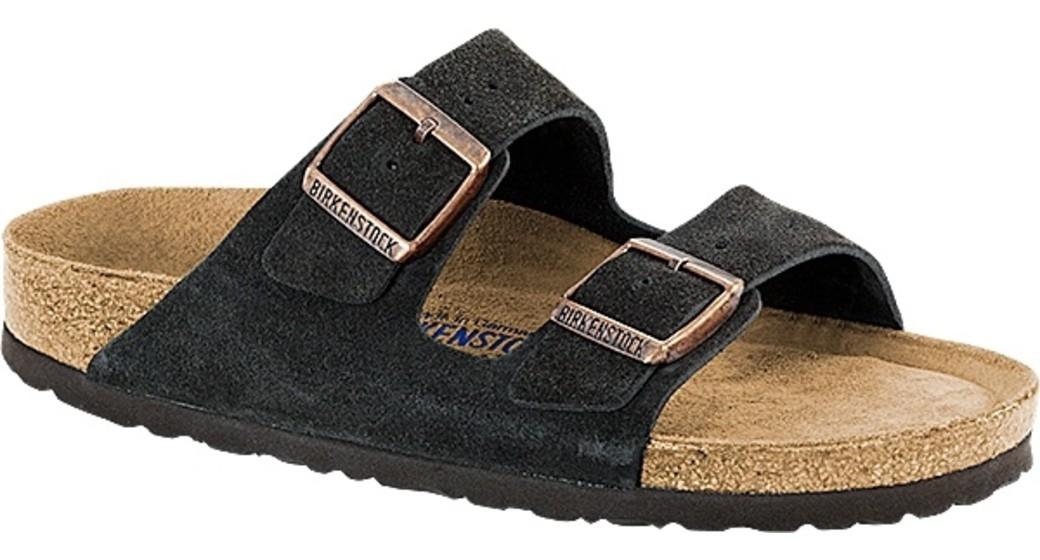 Birkenstock Arizona mokka suède leather soft footbed for wide feet