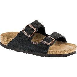 Birkenstock Arizona mokka suède leer zacht voetbed voor brede voet