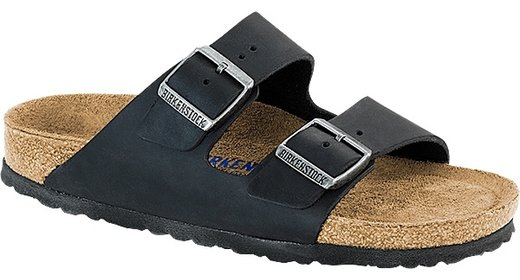 Birkenstock Birkenstock Arizona black olied leather soft footbed for wide feet