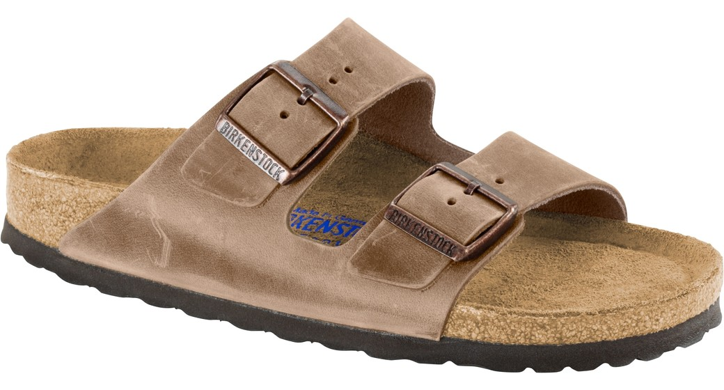 Birkenstock Arizona Tabacco olied leather soft footbed for wide feet