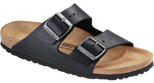 Birkenstock Birkenstock Arizona zwart geolied leer voor normale voet