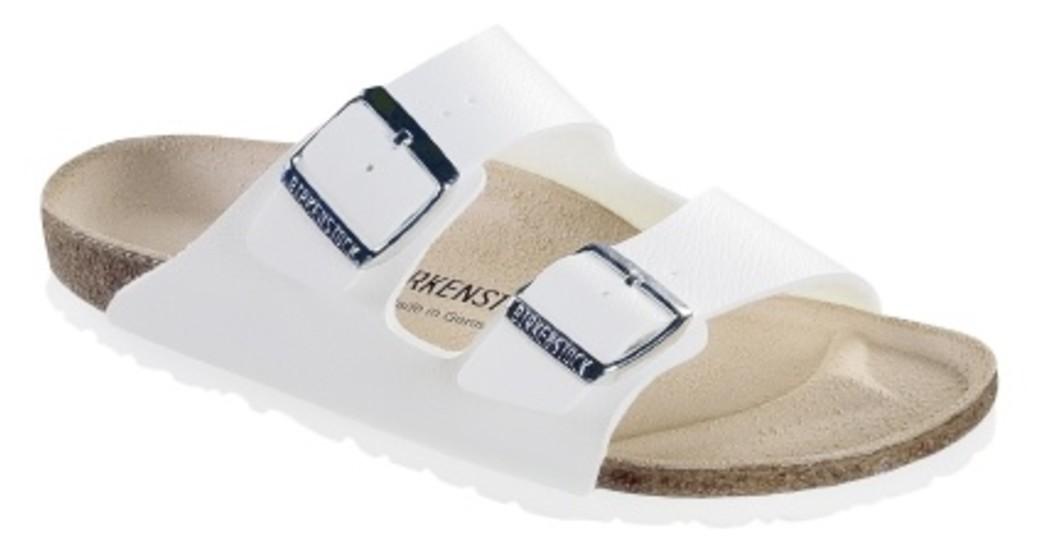Birkenstock Arizona white birkoflor for wide feet