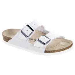 Birkenstock Arizona white leather for normal feet