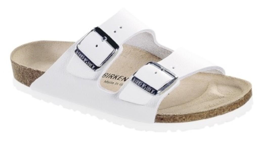 Birkenstock Arizona white leather for wide feet