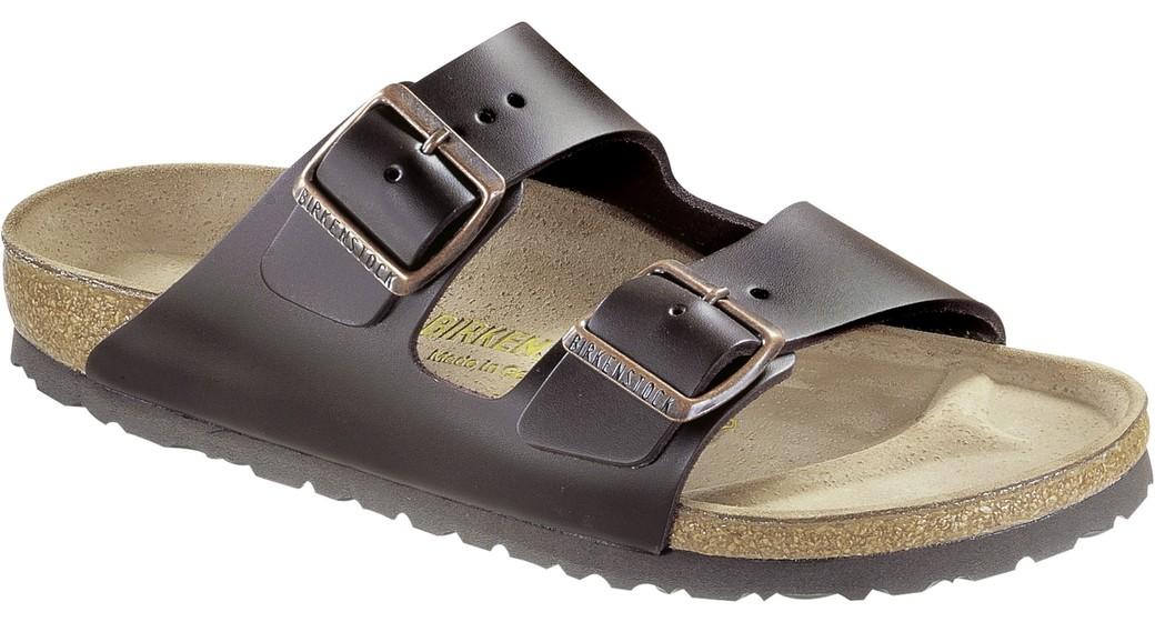 Birkenstock Arizona dark brown leather for normal feet