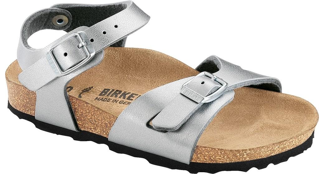 Birkenstock Rio kids silver for wide feet