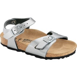 Birkenstock Rio kids zilver voor brede voet