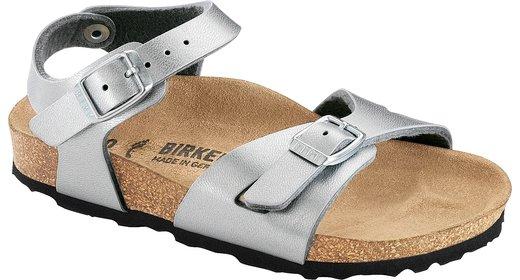 Birkenstock Birkenstock Rio kids silver for wide feet