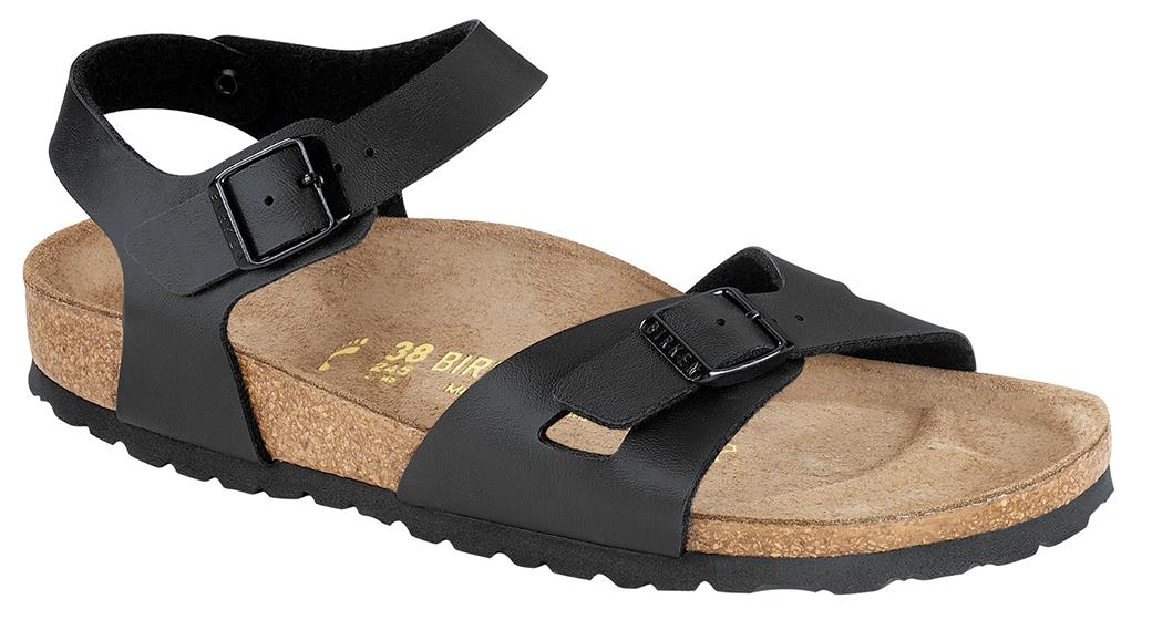 Birkenstock Rio zwart voor brede voet