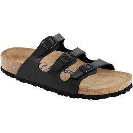 Birkenstock Florida zwart met zacht voetbed voor normale voet