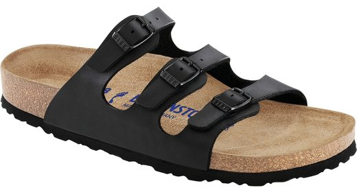 Birkenstock Birkenstock Florida zwart met zacht voetbed voor normale voet