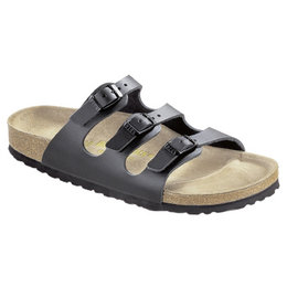 Birkenstock Florida black with soft footbed for wide feet