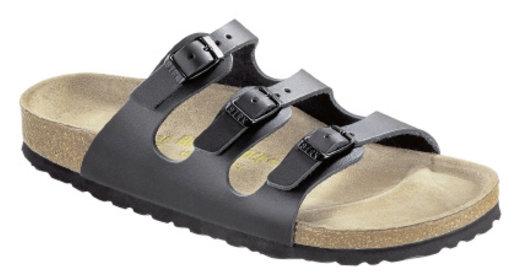 Birkenstock Birkenstock Florida zwart met zacht voetbed voor brede voet