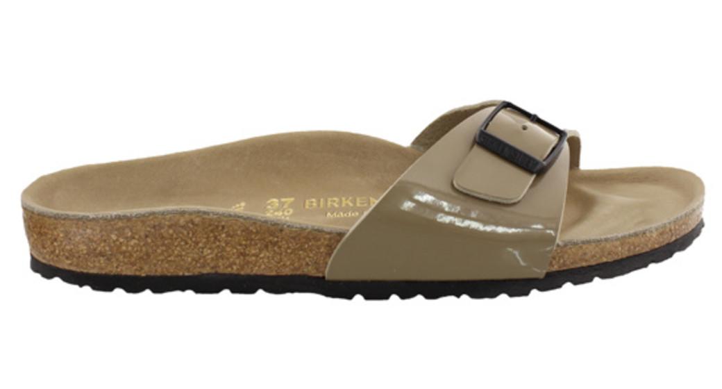 Birkenstock Madrid fossil lack bekl. voetbed voor normale voet