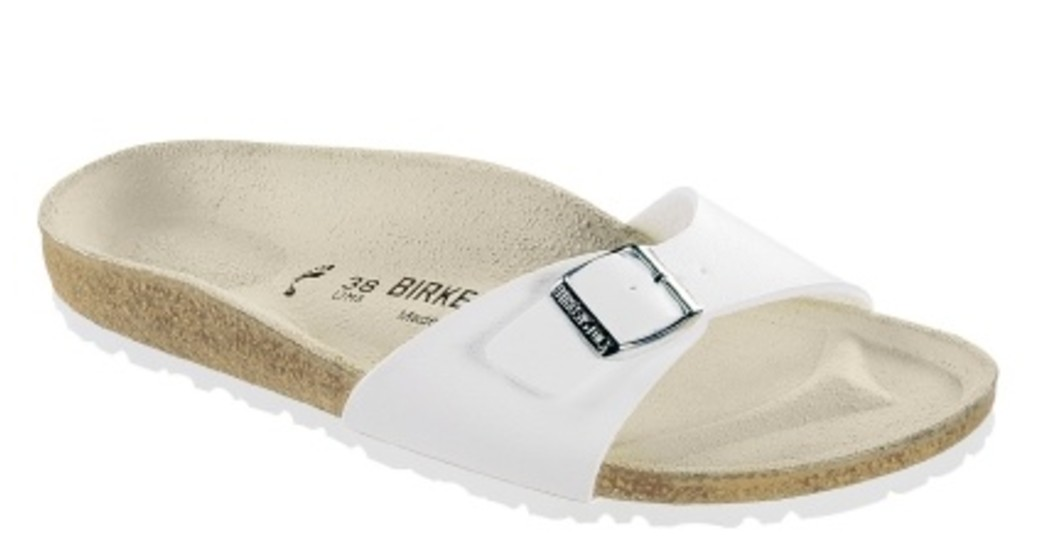 Birkenstock Madrid white for wide feet