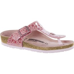Birkenstock Gizeh kids metallic stones pink for normal feet