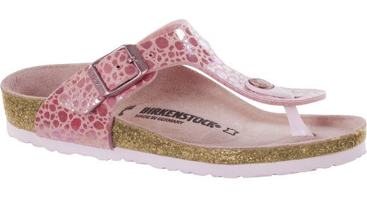 Birkenstock Birkenstock Gizeh kids metallic stones pink voor normale voet