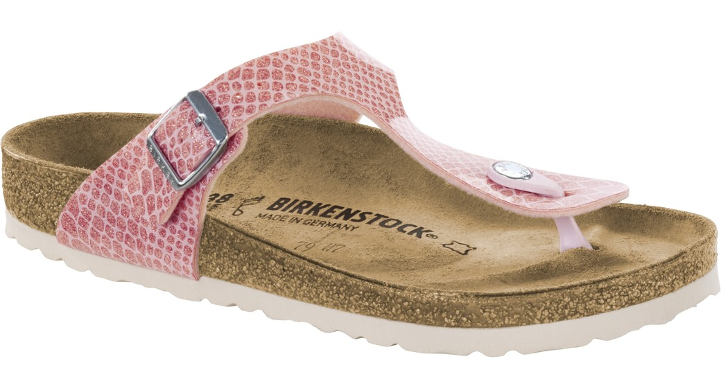 Birkenstock Gizeh magic snake pink in for normal feet