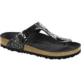 Birkenstock Gizeh metallic stones black for normal feet