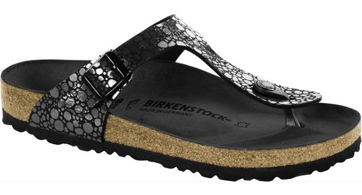 Birkenstock Birkenstock Gizeh metallic stones black for normal feet