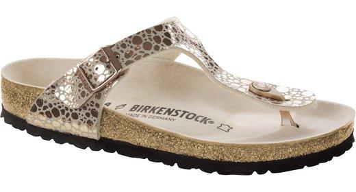 Birkenstock Birkenstock Gizeh metallic stones copper voor normale voet