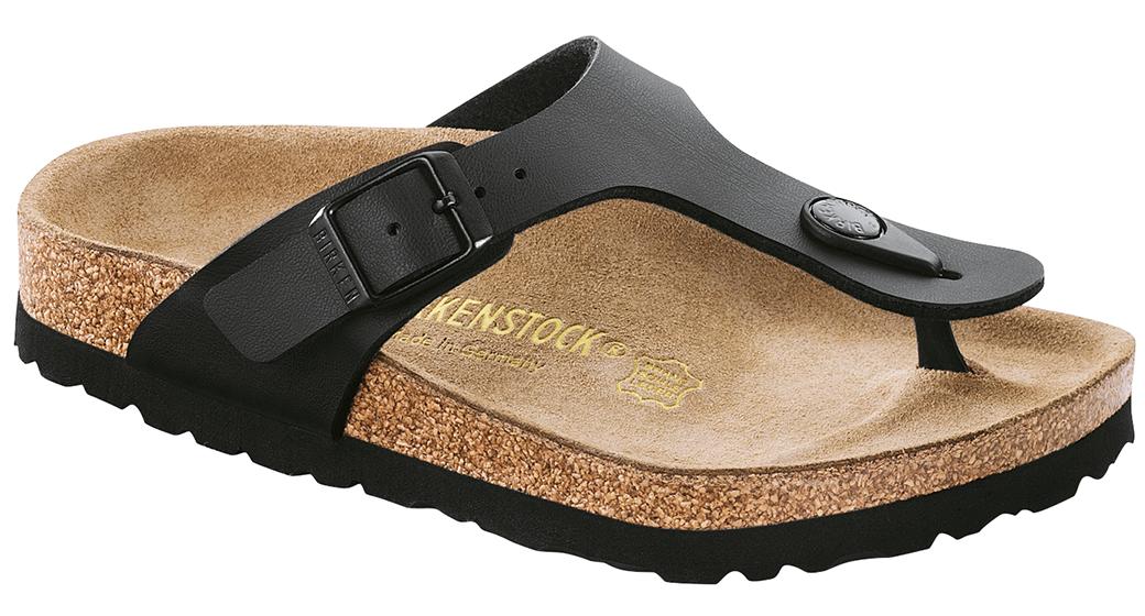 Birkenstock Gizeh kids black for wide feet