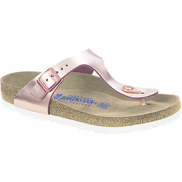 Birkenstock Gizeh metallic copper leather, soft footbed for normal feet