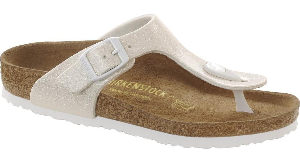 Birkenstock Gizeh kids magic galaxy wit voor normale voet