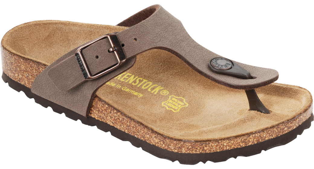 Birkenstock Gizeh kids nubuck mocca for normal feet